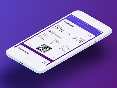 DailyUI - Exp. 024 - Boarding Pass boarding pass ux ui mobile ios dailyui app 024