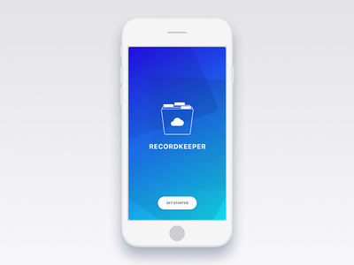 RecordKeeper V0.2 onboarding collection records vinyl mobile ux ui ios app