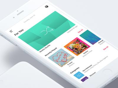 Apple Music Concept content curated song album music mobile ux ui ios app