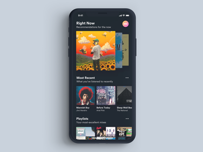 Music Player Concept ux ui song music mobile ios curated content app album