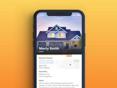 Design Exploration Vol 1 app mobile real estate typography ux ui ios