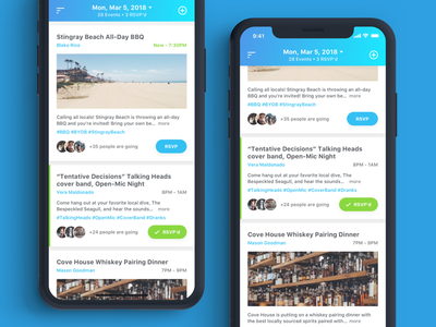 DayQuest V2 listings app mobile events typography ux ui ios