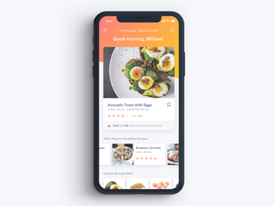 Meal Suggestion Concept ratings meals suggestion app mobile food typography ux ui ios