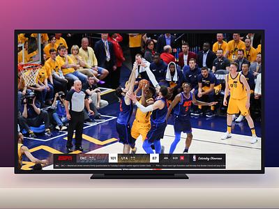 ESPN NBA Scorebug design typography mock tv scorebug ui