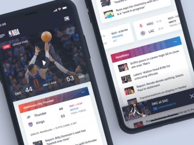 NBA App sports basketball nba design iphone mobile ios app ux typography ui