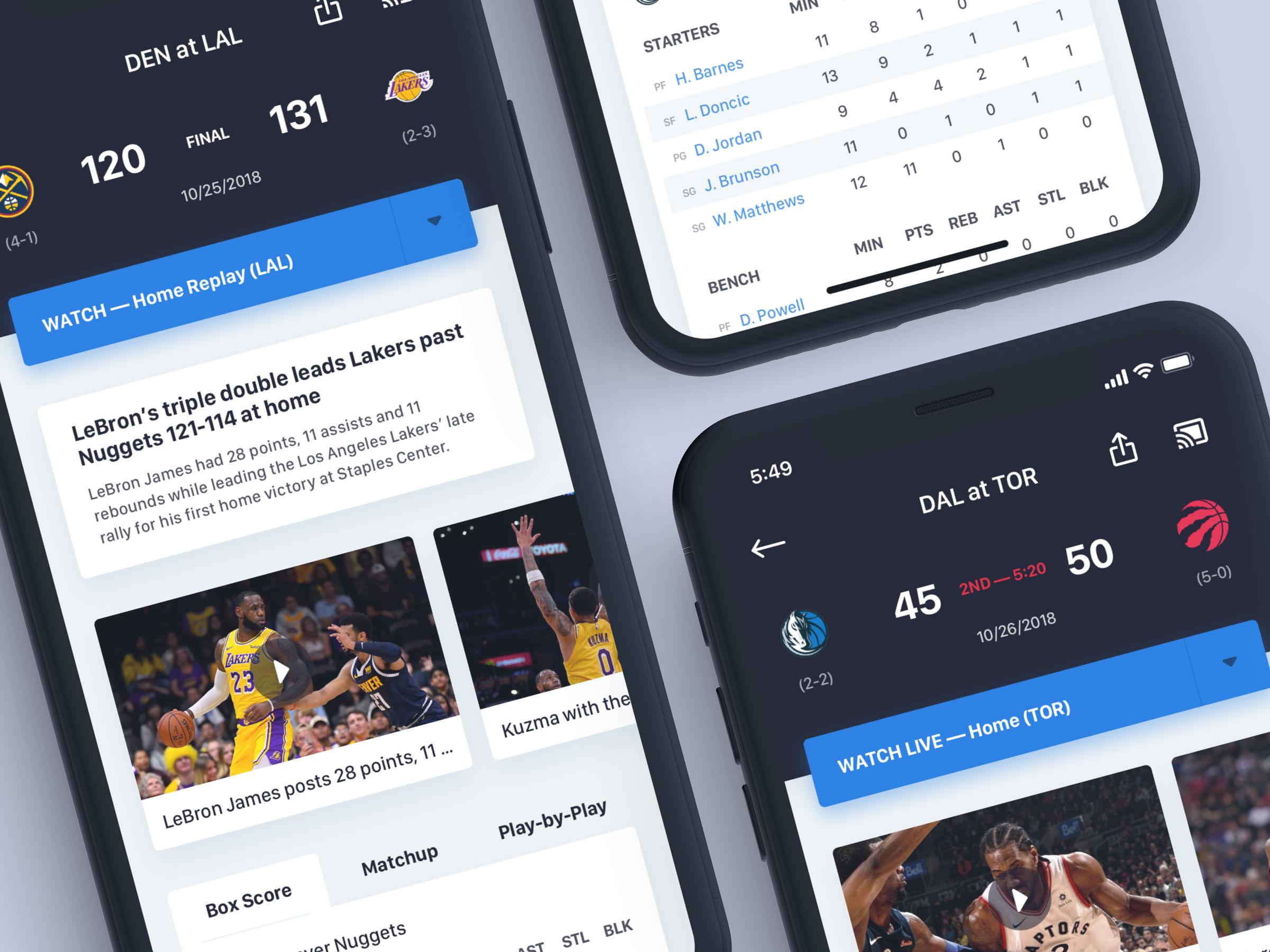 NBA App Game Details