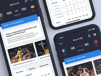 NBA App Game Details basketball nba sports portfolio design iphone mobile ios app ux typography ui