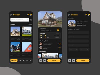 Houseek Mobile App mobile concept desain aplikasi mobile app mobile app design mobile ui application app design