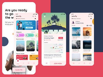 Travel App Design Concept desain aplikasi mobile concept application app design mobile ui mobile app design mobile app