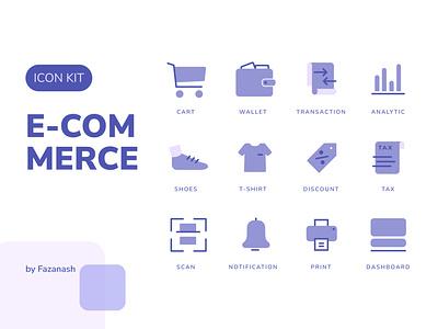 Purple Beauty E-Commerce Icon Kit user interface mobile app icon set icon design icons