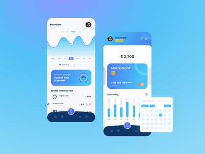 Finance App to Control Your Expenses design mobile ui mobile concept desain aplikasi application app design mobile app design mobile app