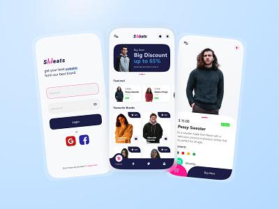 Sweater Finder App mobile concept design application desain aplikasi mobile ui app design mobile app design mobile app