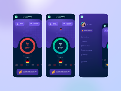 VPN App Cocept vpn app mobile concept desain aplikasi application mobile ui app design mobile app design mobile app