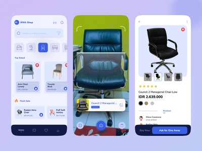 Furniture Shop furniture store furniture app design mobile concept desain aplikasi application mobile ui app design mobile app design mobile app