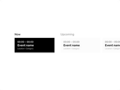 Personal Dashboard – Calendar Events calendar event dashboard product ui design system component