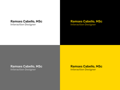 Color / Typeface branding minimal color typeface website personal portfolio