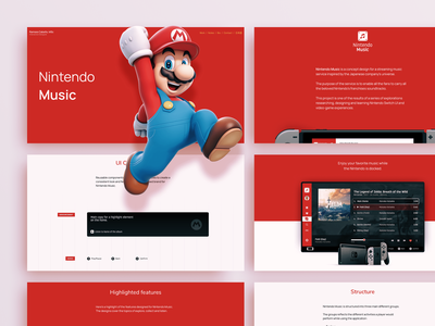 Case Overview → Nintendo Music casestudy layout case portfolio