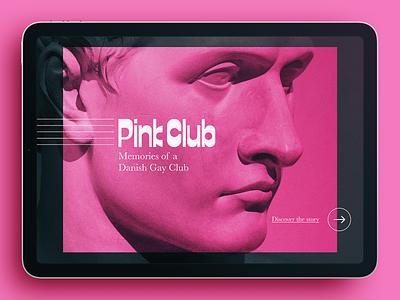 PinkClub → Landing web design