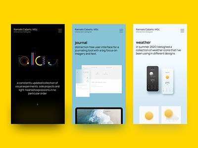 portfolio → play mobile webdesign playground minimal portfolio