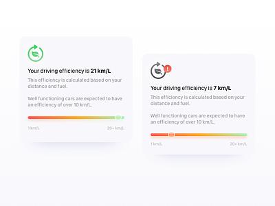 🍃 Car efficiency car product design mobile
