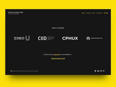 🟡 Portfolio Update portfolio web design