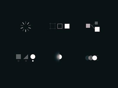 ⚪️ ⚫️ process branding illustration icon