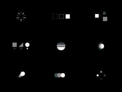 ⚪️ ⚫️ process II illustration icon branding