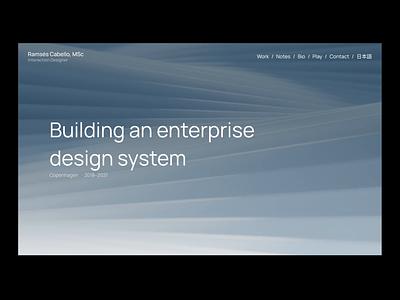 Case Study → Design System web design portfolio case study