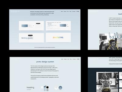 Case Study → Design System II design system case study web design portfolio