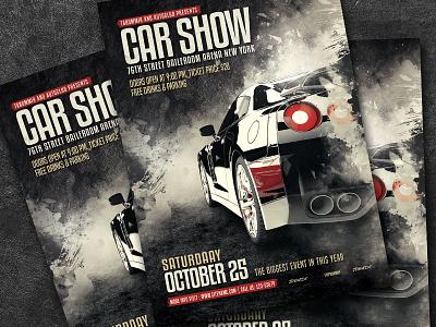 Car Show Flyer sale repair race poster night modern mechanic graphic garage flyer event flyer event design classic car show car automotive automobile auto show auto
