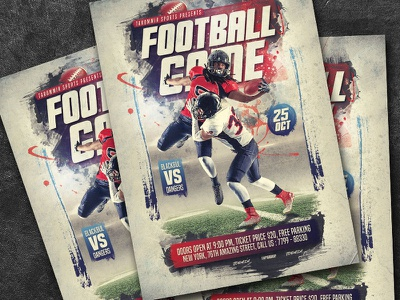 Football Game Flyer sport poster match graphic goal football game flyer game football flyer event design college champion college football ball background american abstract american football