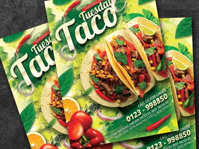 Taco Tuesday Flyer flyer download traditional template tasty tacos taco tuesdays taco psd poster party muertos mexico mexican restaurant mexican flyer mexican