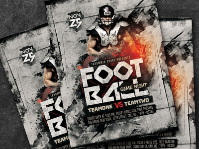 Football Game Night Flyer poster match goal game football game flyer football night football flyer event competition flyer template college football flyer college football college championship ball background american football american
