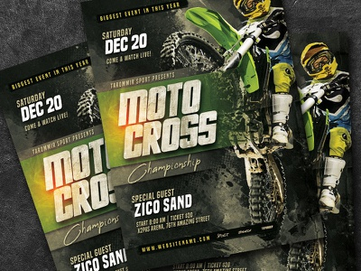 Motocross Championship Flyer road rally race psd print off-road mud motorcycle motor motocross flyer motocross grunge graphic design extreme sports extreme dirty bmx bike bicycle atv