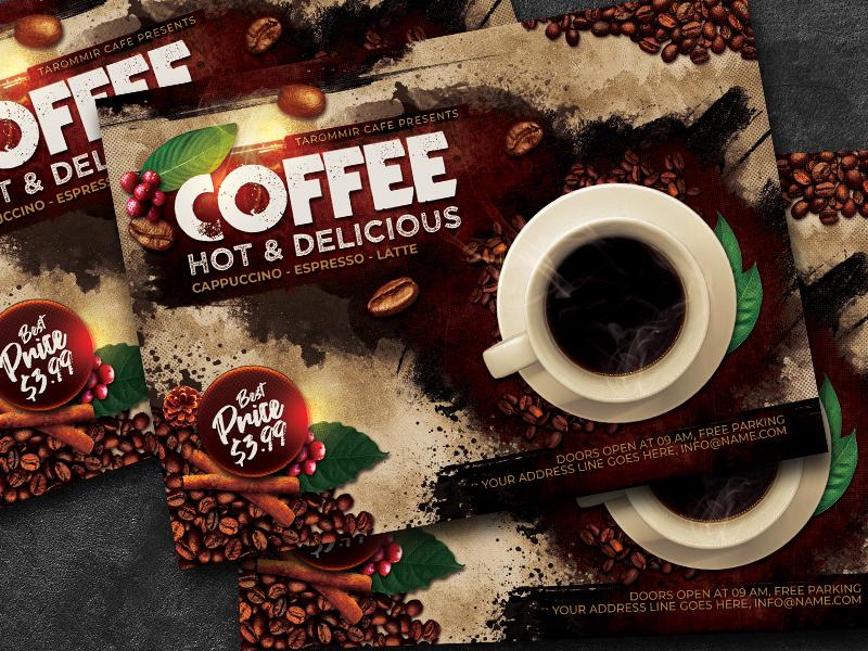 Cafe flyer psd