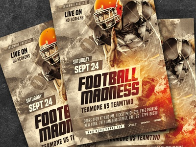 Football Madness Flyer
