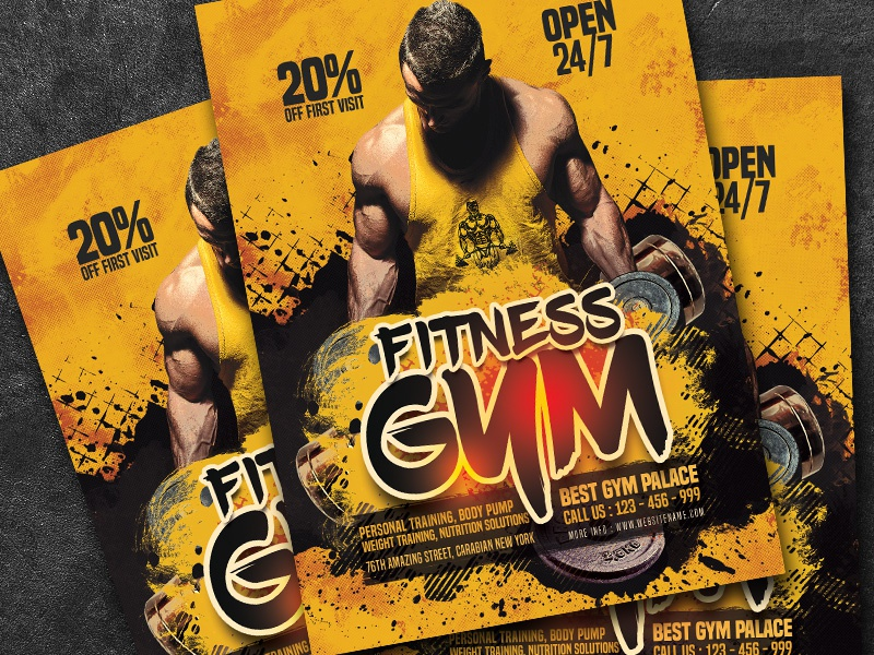 Fitness Gym Flyer Template By Amir Tarommir On Dribbble