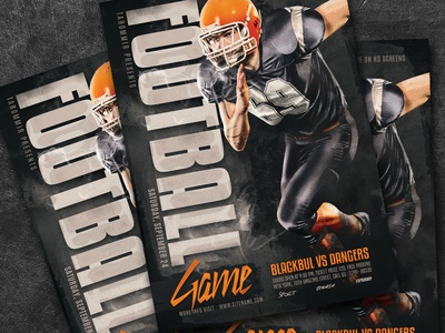 Football Game Flyer