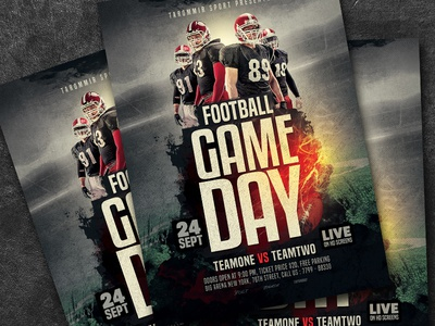 Football Game Day Flyer