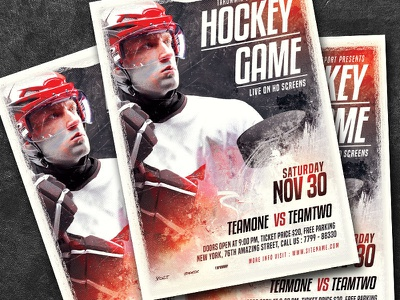 Hockey Game Flyer download sport poster sport flyer sport skating skate puck poster match ice hockey ice hockey poster hockey playoff hockey game hockey graphic game flyer