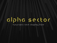 Alpha Sector - Tech Font
