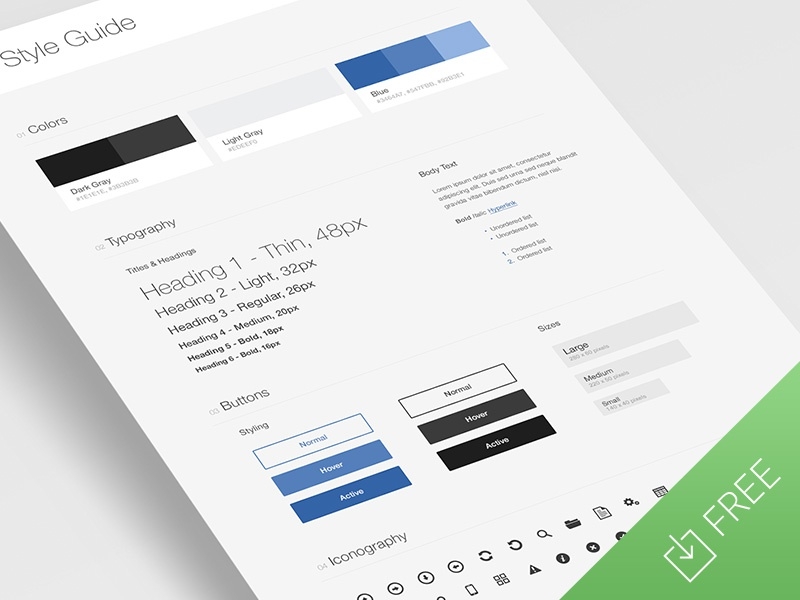 ui style guide template by tony thomas dribbble
