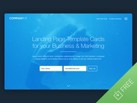 Landing Page Template Cards