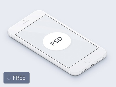 Free 3D White iPhone Mockup