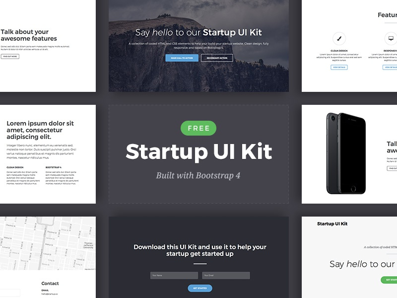 Download Free Bootstrap 4 Startup UI Kit