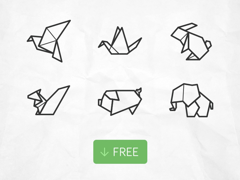 Free Origami Animal Icons By Tony Thomas Dribbble