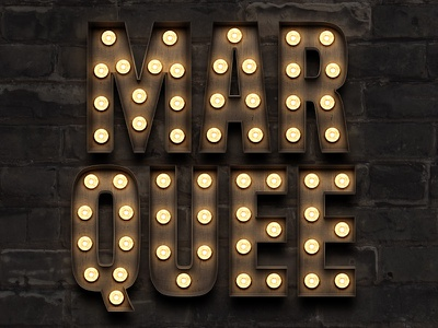Marquee - Light Bulb Sign Letters letters bulb sign lightbulb broadway theatre marquee