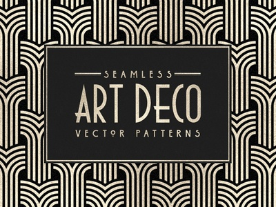 Seamless Art Deco Patterns geometric patterns 20s 1920 art deco