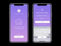 Amethyst iphone x app ui preview 2a