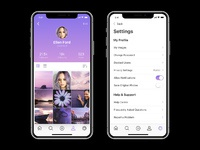 Amethyst iphone x app ui preview 4a